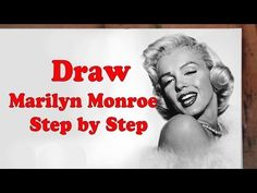 How to Draw Marilyn Monroe Step by Step - YouTube VIDEO  | This image first pinned to Marilyn Monroe Art board, here: http://pinterest.com/fairbanksgrafix/marilyn-monroe-art/ || #Art #MarilynMonroe