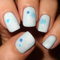 Wendy's Delights: Winter Wonderland Nail Water Decals from Sparkly Nails @sparklynails #snowflakes #christmas #baubles #bluenails #christmasnails #winterwonderland