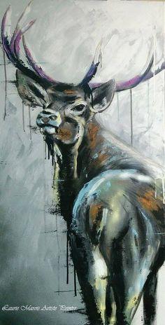 """""""Gros cul"""" 18X36. Acrylique sur toile. Laurie Marois Artiste-Peintre."""