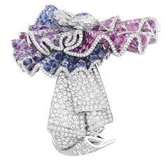 @dior Ailée Diamant #bracelet in white gold, with #diamonds, #purple and #pink #sapphires and #rubies.