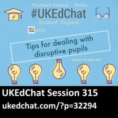 Session 315: Tips for dealing with disruptive pupils