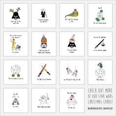 'Find The Droid' Star Wars Christmas Card