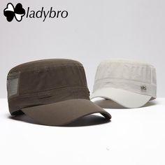 Ladybro Brand Fashion Flat Hat Male Summer Men Hat Cap Breathable Quick-Drying Ultra-Light Mesh Cap 95 Casquette Bone Gorras