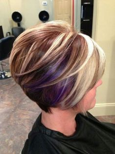 Stacked Bob Hairstyles, Inverted Bob Hairstyles, Short Hairstyles For Thick Hair, Short Hair Cuts, Short Hair Styles, Pixie Cuts, Layered Haircuts, Ponytail Hairstyles, Bob Cuts