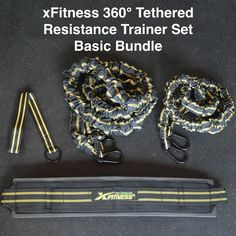 xFitness Recoil 360° Resistance Training System - Include Harness Belt & Bungee Resistance Cords (5Ft or 7Ft Length); Designed To Developing Agility & Faster Lateral Movement (Belt with 7 Ft. Cord). ★ xFitness Recoil 360° Resistance Training System. Super Heavy Duty and Durable. All Metal Connectors, No Plastic Buckles, Designed to LAST. ★ You Are Currently Viewing The 7 Ft. Basic Starter Bundle Includes: (1) 7Ft. Shield QIADRUPLE Latex Cord Bungee Rope (2) Padded Harness Belt (3)…