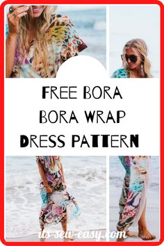 Let yourself loose this summer with a one of a kind Bora Bora wrap dress. This Bohemian Rhapsody wrap dress filled with bold colors is perfect for summer wear especially for long strolls along the beach. Other than the list of items you need to make the dress, the pattern also lists all the measurements you need together with a collection of illustrations to help you get every cut right. #freesewingpatterns#easydresspatterns#dresssewingpatterns#dresspatterns#summerdresspatterns#sewingathome Lining Fabric, Chiffon Fabric, Summer Dress Patterns, Summer Dresses, You Loose, Stunning Summer, Love Sewing, Bora Bora, Sewing Patterns Free