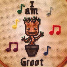 My dancing baby Groot cross stitch