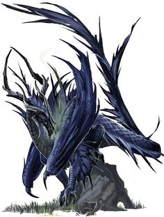 Ancient Black Dragon by BenWootten.deviantart.com on @deviantART