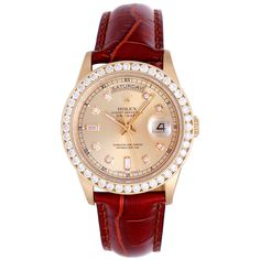 1stdibs.com   Rolex Yellow Gold Day-Date President Wristwatch with After-Market Diamonds