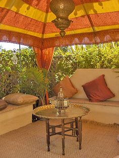 Orange and Yellow Tent Wedding, Orange, Yellow, Tents, Patio, Indian, Outdoor Decor, Beautiful, Design