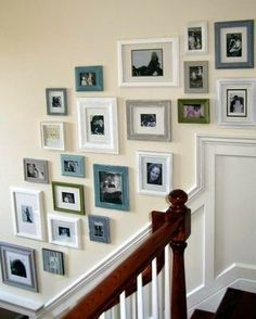 Staircase Wall Decorating Ideas Frame Collage Gallery Frames Picture On The