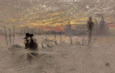 At the Venetian Lagoon - James Abott  Mc Neill Whistler  1879-80  American 1817-1803  Pastel