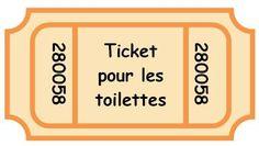 Tickets pour les #toilettes, gestion classe, #comportement