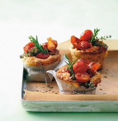 Cherry Tomato And Herb Muffins;