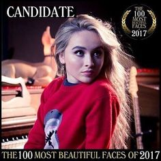 2017 Sabrina Carpenter is a candidate for The 100 Most Beautiful Faces of 2017 (see link)