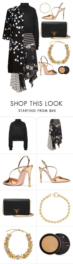 """Panels + Draping"" by cherieaustin on Polyvore featuring Adeam, Preen, Prada, Jennifer Fisher, Lizzie Fortunato, Guerlain and Giulietta"