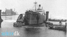 arkiv.dk | Gl. Masnedsund bro. Gennemsejling. Ca. 1937.