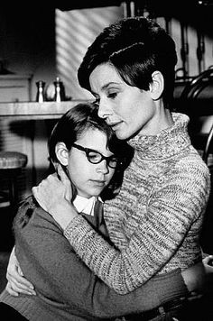 "Audrey Hepburn plays her role as a blind woman flawlessly in ""Wait Until Dark"""