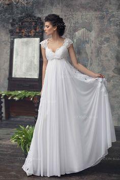 Bohemian Wedding gown by cocon bridal via etsy
