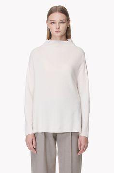 Wool highneck oversized pullover