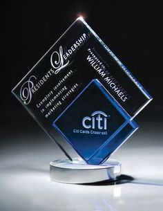 Glass Diamond Duet Award   edco.com