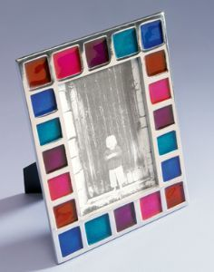 AL6-Photo Frames~Multicolour Recycled Aluminium Frame~Fairtrade by Namaste & Folio Gothic