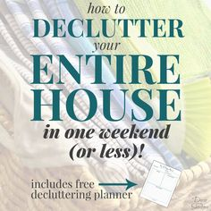 YES, it is actually possible to declutter your entire home in ONE weekend! These step-by-step instructions are so easy to follow and will show you exactly how to declutter your whole house this weekend! Plus there's even a free decluttering planner included. There's really no excuse not to get your home decluttered and under control! | decorbytheseashore.com