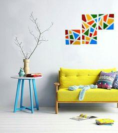 Telas coloridas pinturas abstratas decoração quadros