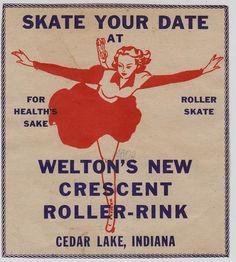 Welton's New Crescent Roller-Rink - Cedar Lake, Indiana | Flickr - Photo Sharing!