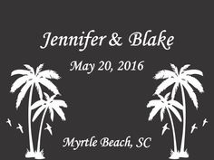 Personalized welcome bag labels, perfect for a beach wedding.