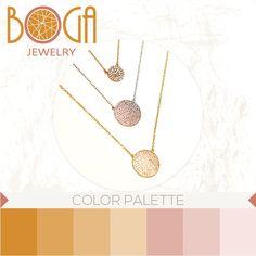 Collares de plata con baño de oro amarillo y rosado con pavé de circones. Encuéntralos en nuestra isla en el C.C. San Marino #bogalovers #colorpalette #bogajewelry #sanmarino