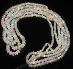 """1 Strand 2 to 5 mm 16"""" Beads Natural Genuine Ethiopian Welo Fire Opal** 446"""