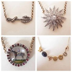 Yummy new diamond necklaces at my Liberty counter @libertylondon (at Liberty London)\ Annina Vogel Jewellery