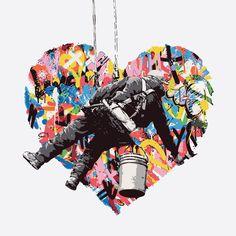 canvas Size: 60x60 cm #streetart #graffiti #print #art #canvas #design #gallery #painting #home #inspiration #girl #heart #canvas