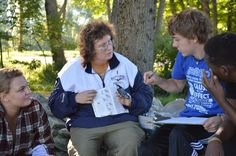 Science Department Chair Laurie Doss teaches the very popular Ornithology class