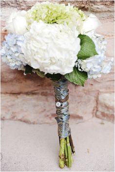 White + Blue + Green Bouquet