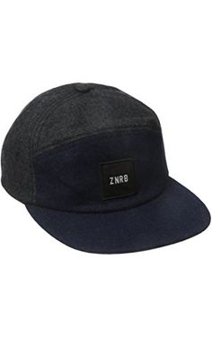 Zanerobe Men's 6-Panel Two Tone Headwear, Charcoal/Navy, One Size ❤ Zanerobe Men's Collections