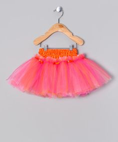 Take a look at this Orange & Pink Tutu by Ellas Tutus on #zulily today!