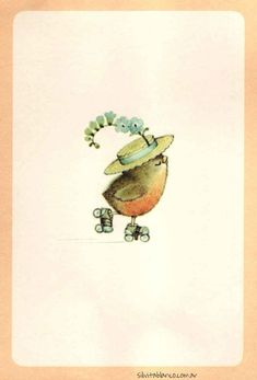 Adorable Animalitos Calendario Vintage 1976 Ruth Morehead Polymer Clay Painting, Bird Illustration, Decoupage, Cute Drawings, Painting Inspiration, Pet Birds, Watercolor Paintings, Poster Prints, Artist