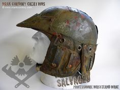 Post Apocalyptic armour - airsoft LARP helmet. SALVAGED Ware made by Mark Cordory Creations. Enquiries always welcome @ www.markcordory.com