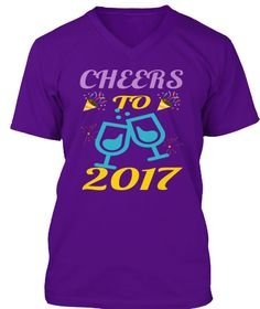 Cheers To 2017 Team Purple T-Shirt Front