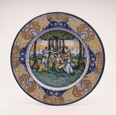 Display Dish with Orpheus Lamenting the Death of Euridice - Faenza, Italy, ca. 1520-30 - Taft Museum of Art, Cincinnati