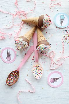 ice cream cone cake pops...would be cute for birthdays