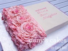 half rosette sheet cake