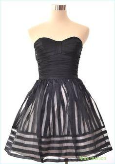 betsey johnson dresses | Betsey Johnson Evening Burnout Stripe Vogue Dress Profile Photo