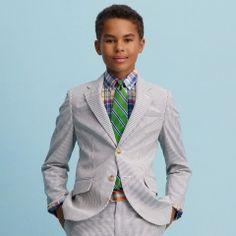 Seersucker Sportcoat - Boys 8-20 Suits & Sportcoats - RalphLauren.com