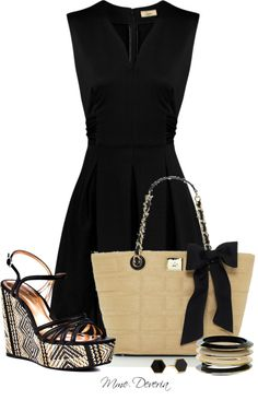 """Black silk tribal wedges"" by madamedeveria ❤ liked on Polyvore"