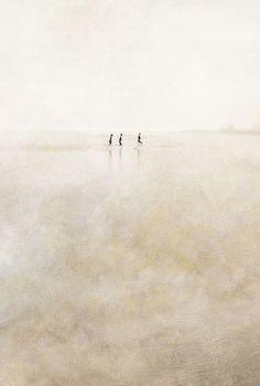 So small in a big world....three girls running (by Paul Grand) (via wishflowers)