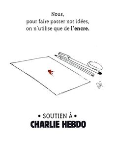 Cartoonists React To Charlie Hebdo Attack With Pen And Paper Arnold Schwarzenegger, Slogan, Anne Sinclair, Basic Quotes, Paris Attack, Charlie Hebdo, Drame, Strong Words, Freedom Of Speech