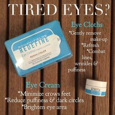 "Rodan + Fields Eye Cloths & Eye Cream are my go to ""mini regimen"" for late nights, and well you know every day!! Ask me about my current special! DKingsley2017@gmail.com"